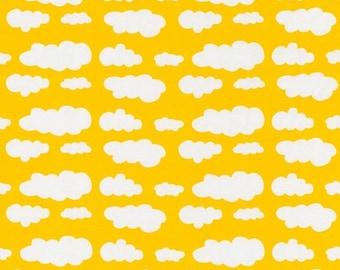 Yellow Cloud Jersey Fabric