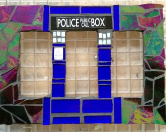 Doctor Who TARDIS Mosaic Rocker Light Switch Plate Cover Made-To-Order