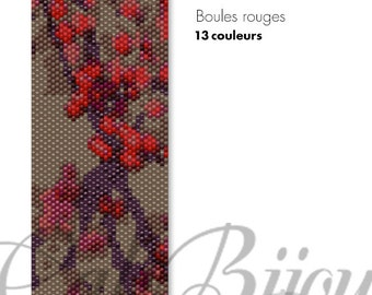 Boules rouges - PATTERN