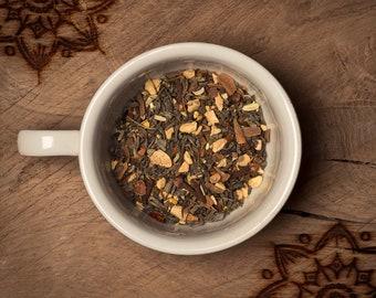 Green Chai, Loose Leaf Tea, handmade, green tea