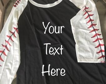 Stitched Sleeve Softball or Baseball Raglan