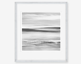 ocean wave printable, surf download, wave print download, black and white photograph, black and white seascape, black and white abstract,