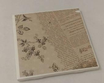 Vintage Floral Coasters- 1 Coaster