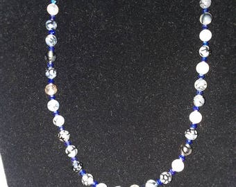 Dragon vein agate necklace.