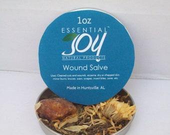 Wound Salve, 1.5 oz. CLEARANCE, Herbal Salve. Comfrey Salve. Wound Salve,