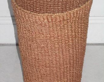 Rattan Vase or Vessel for Bread or Flowers