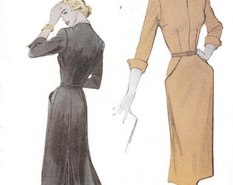 Butterick Retro #6308 1950s women's dress reissued pattern uncut and factory folded Out of Print