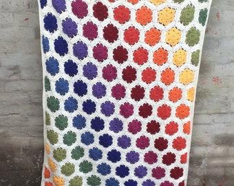 MADE TO ORDER - Crochet blanket, Rainbow blanket, crochet afghan, lap blanket, throw blanket, girls blanket, Granny Square blanket,