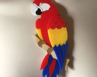"""bold & dramatic 'PARROT"""" summer statement necklace"""