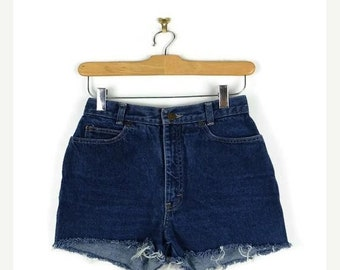 ON SALE Vintage Calvin Klein  Denim Cut off Shorts from 80's