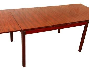 Norwegian Rosewood Dining Table by Heggen / Scandinavian Modern / Danish Modern / Mid-Century Modern Dining Table