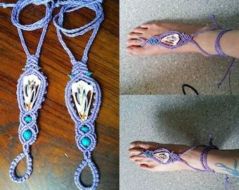 Macrame Barefoot Boho Sandals