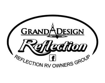 Grand Design REFLECTION RV Owners Group Camping, Camper, trailer decal by Howard Avenue