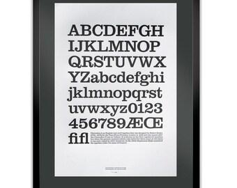 Clarendon Letterpress Typography Print