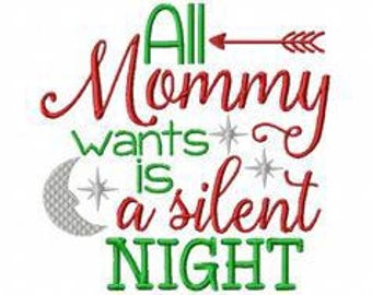 All mommy wants is a silent night
