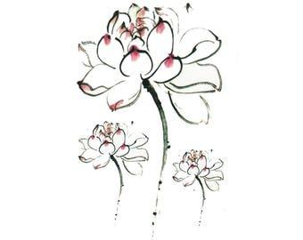 Lotus Tattoo Sheet - 1 Pc