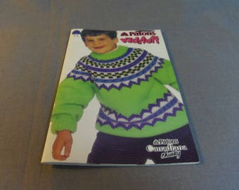 Knitting Patterns, Patons Kidstuff 675, Nordic Pullover, Cable Sweater, Jackets