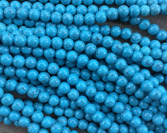 Blue Turquoise-Colored Beads 8mm
