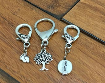 Pewter zipper pull, inspirational gift, charm pull, charm zipper pull, zipper charm, luggage tag, luggage charm, tree of life, strength