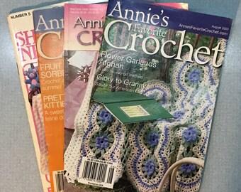 Lot of 4 Annie's Crochet & Needlework Books 1983-2005