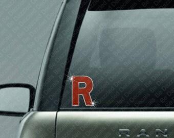 Rhinestone Initial R