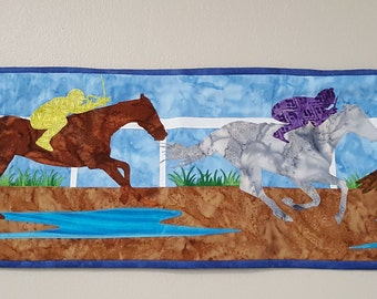 Kentucky Derby wall art Kentucky Derby applique hanging Wet track Kentucky Derby decoration ready to ship Derby banner horse theme banner