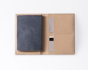 Travel Wallet / Minimalist Washable Paper Passport Sleeve in Mojave Sand / Vegan Paper Passport Sleeve