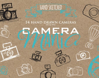 Camera Clip Art - photography clipart - watermark camera logo - photography logo cameras - png and vector cameras