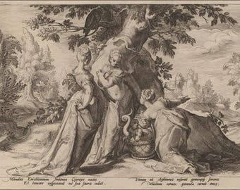 Poster, Many Sizes Available; 1590. The Daughters Of Cecrops Etching 17.8 X 25.5 Cm Washington Dc, Nga