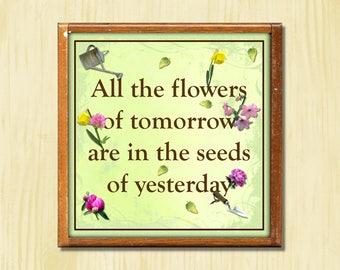 Flowers of Tomorrow - Instant Downloadable Art Print Digital Wall Art Printable Nature Art Home Decor