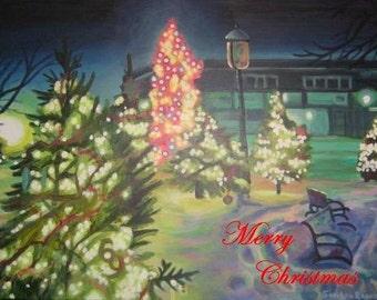 Original Art Christmas Card
