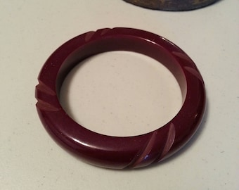 Bakelite Carved Brangle Bracelet
