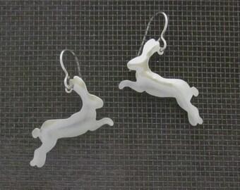 Running Rabbit Earrings Small