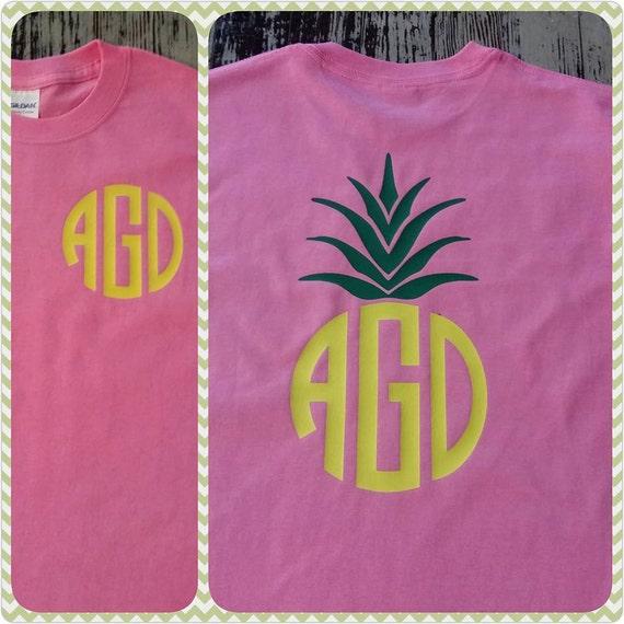 Pineapple Print SHORT SLEEVE Tee
