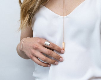 Lariat Necklace   Minimalist Necklace   PERSONALIZED Handmade Delicate Necklace   Sterling Silver   Gold   Rose Gold