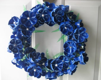 Blue Danube unique wreath made from recycled plastic botles