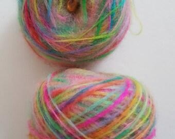 summer morning brush-dyed mohair wool