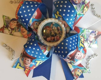 Toy story stacked hair bow