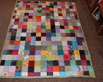 Twin Quilts - Scrappy Patchwork Quilt - Twin Size Quilt - Full Payment