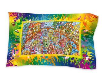 Pillow sham standard (30'' x 20'') for Amsterdam Canal Parade lovers.  Iamsterdam. Amsterdam Gay pride. A must see city in the world!