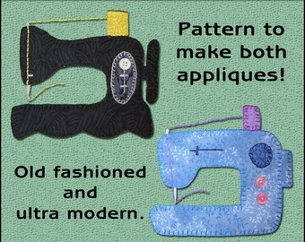Sewing Machine Applique Template - Antique Sewing Machine Applique Template - Applique Template, PDF Pattern, DIY