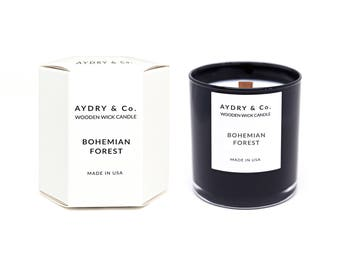 Bohemian Forest Wooden Wick Candle