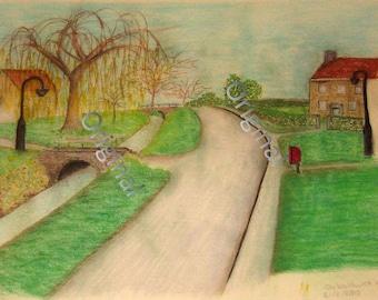 Osbaldwick Village Print