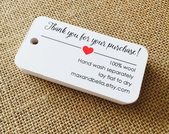 Custom Care Tags, Product Tags, Personalized Tags, Product Tags, Gift Tags, Personalized, Custom Tags - Set of 20