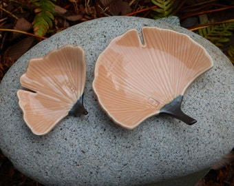 Porcelain ginkgo dishes (small size)