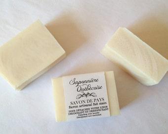 Savon de pays, Savon artisanal fait main 100% naturel, Laundry Soap Cold process All Natural Handmade Soap