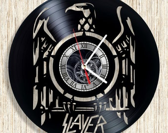 SLAYER vinyl record wall clock unique home decor and wonderful gift idea