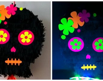Dia dos muertos skull| Halloween Piñata| Halloween Décor| Skull Glow| Party supplies| Halloween party| Pinata| Mexican skull| Mexican pinata