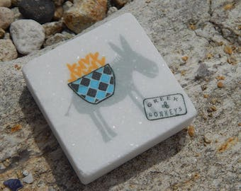 Marble Paperweight Greek Donkey