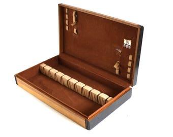 Empty Flatware Chest Wood Silverware Storage Box Case (as-is)